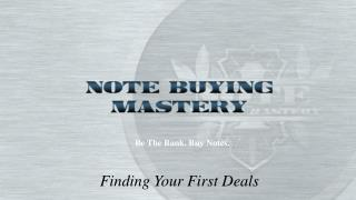 Finding Your First Deals
