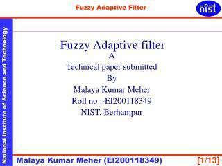 Fuzzy Adaptive filter
