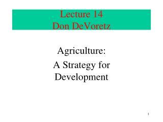 Lecture  14 Don DeVoretz