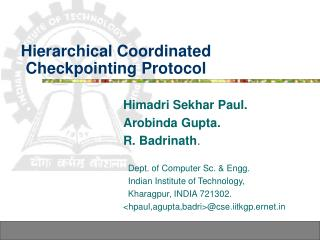Hierarchical Coordinated Checkpointing Protocol