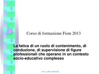Corso di formazione Fism 2013