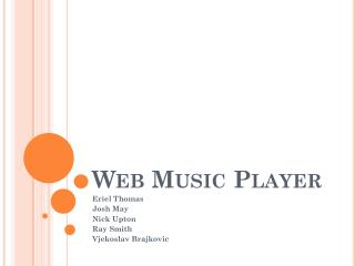 Web Music Player