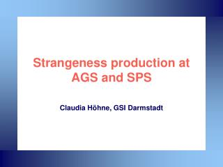 Strangeness production at AGS and SPS