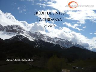 CRÈDIT DE SÍNTESI LA CERDANYA 2º cicle