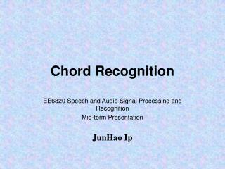Chord Recognition