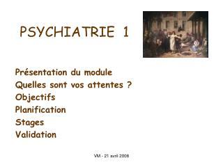 PSYCHIATRIE  1