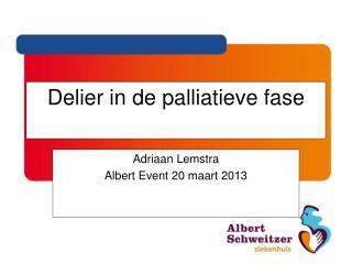 Delier in de palliatieve fase