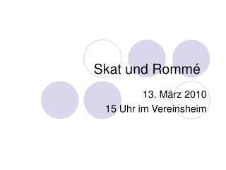 Skat und Rommé