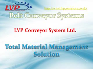 Conveyor Systems | Advance and Complete Product Handling Sol