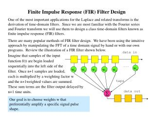 Finite Impulse Response (FIR) Filter Design