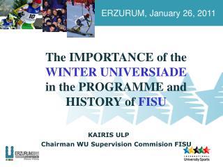 ERZURUM, January 26, 2011