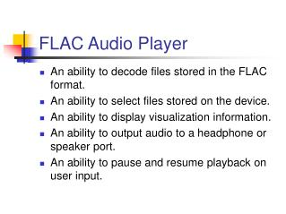FLAC Audio Player