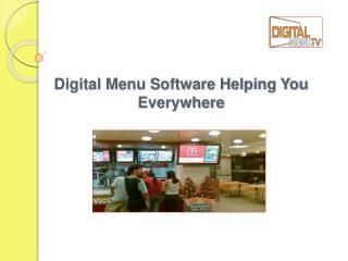Digital Menu Software