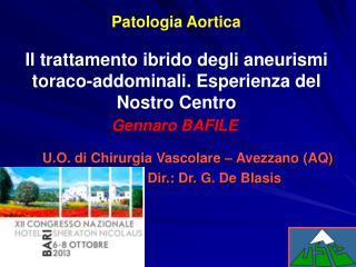 Il trattamento ibrido degli aneurismi toraco-addominali. Esperienza del Nostro Centro