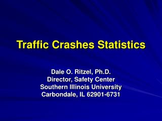 Traffic Crashes Statistics