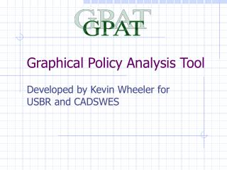 Graphical Policy Analysis Tool