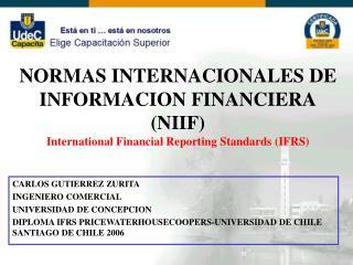 CARLOS GUTIERREZ ZURITA INGENIERO COMERCIAL UNIVERSIDAD DE CONCEPCION
