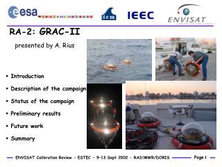 RA-2:  GRAC-II presented by A. Rius