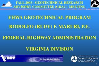 FHWA GEOTECHNICAL PROGRAM