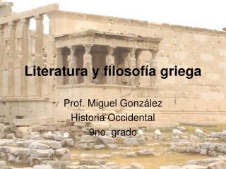 Literatura y filosofía griega