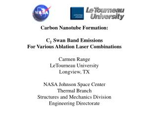 Carbon Nanotube Formation: C 2   Swan Band Emissions For Various Ablation Laser Combinations