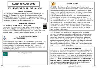 LUNDI 18 AOUT 2008