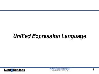 Unified Expression Language