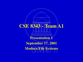 CSE 8343 - Team A1