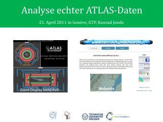 Analyse echter ATLAS-Daten