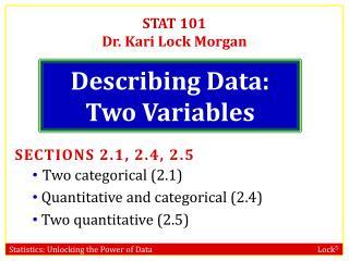 Describing Data: Two Variables