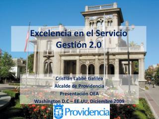 Excelencia en el Servicio Gestión 2.0