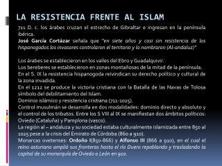 La resistencia frente al Islam