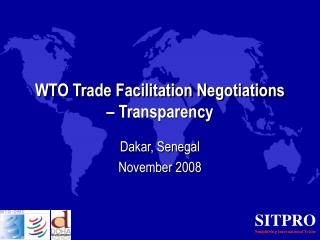 WTO Trade Facilitation Negotiations – Transparency