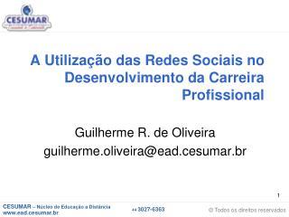 A Utilização das Redes Sociais no Desenvolvimento da Carreira Profissional