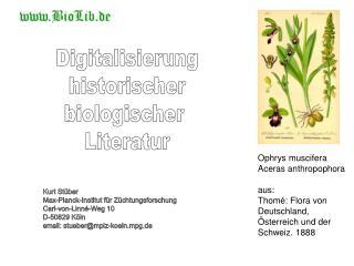 Digitalisierung historischer biologischer  Literatur