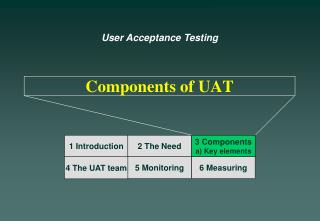 Components of UAT
