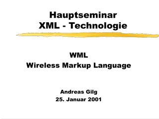 Hauptseminar XML - Technologie