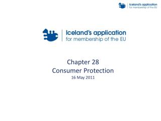 Chapter 28 Consumer Protection 16 May 2011