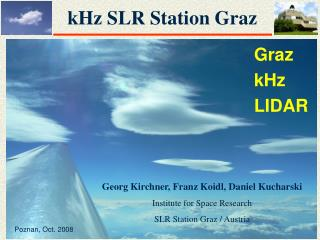 kHz SLR Station Graz