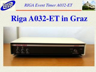 RIGA Event Timer A032-ET