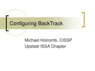 Configuring BackTrack