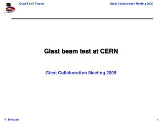 Glast beam test at CERN