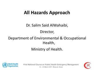 All Hazards Approach