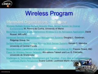 Wireless Program