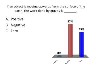If an object is moving upwards from the surface of the earth, the work done by gravity is _______.
