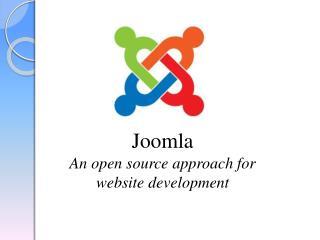 Joomla An open source approach for website development