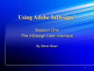 Using Adobe InDesign