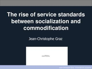 The rise of service standards between socialization and commodification