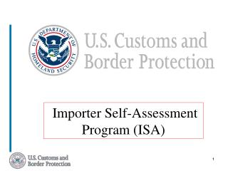 Importer Self-Assessment Program ISA