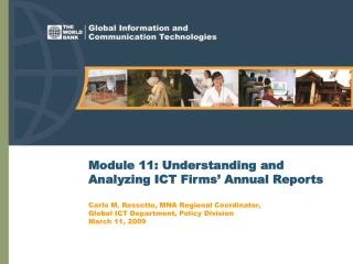 Module 11: Understanding and Analyzing ICT Firms' Annual Reports